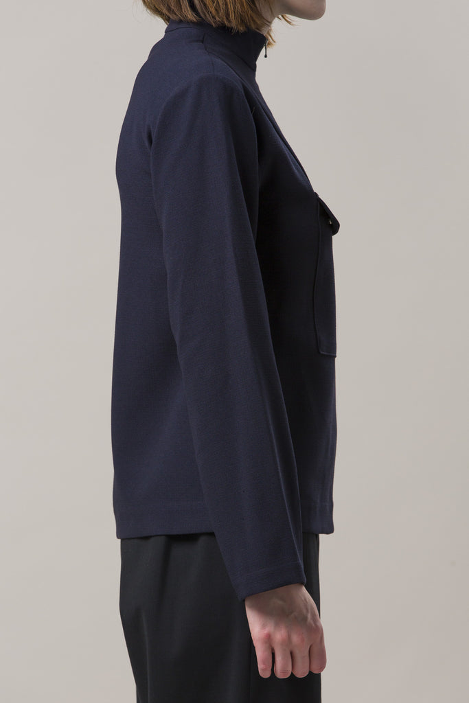 Zip Up Anorak Jacket, Navy by Nomia @ Kick Pleat - 5