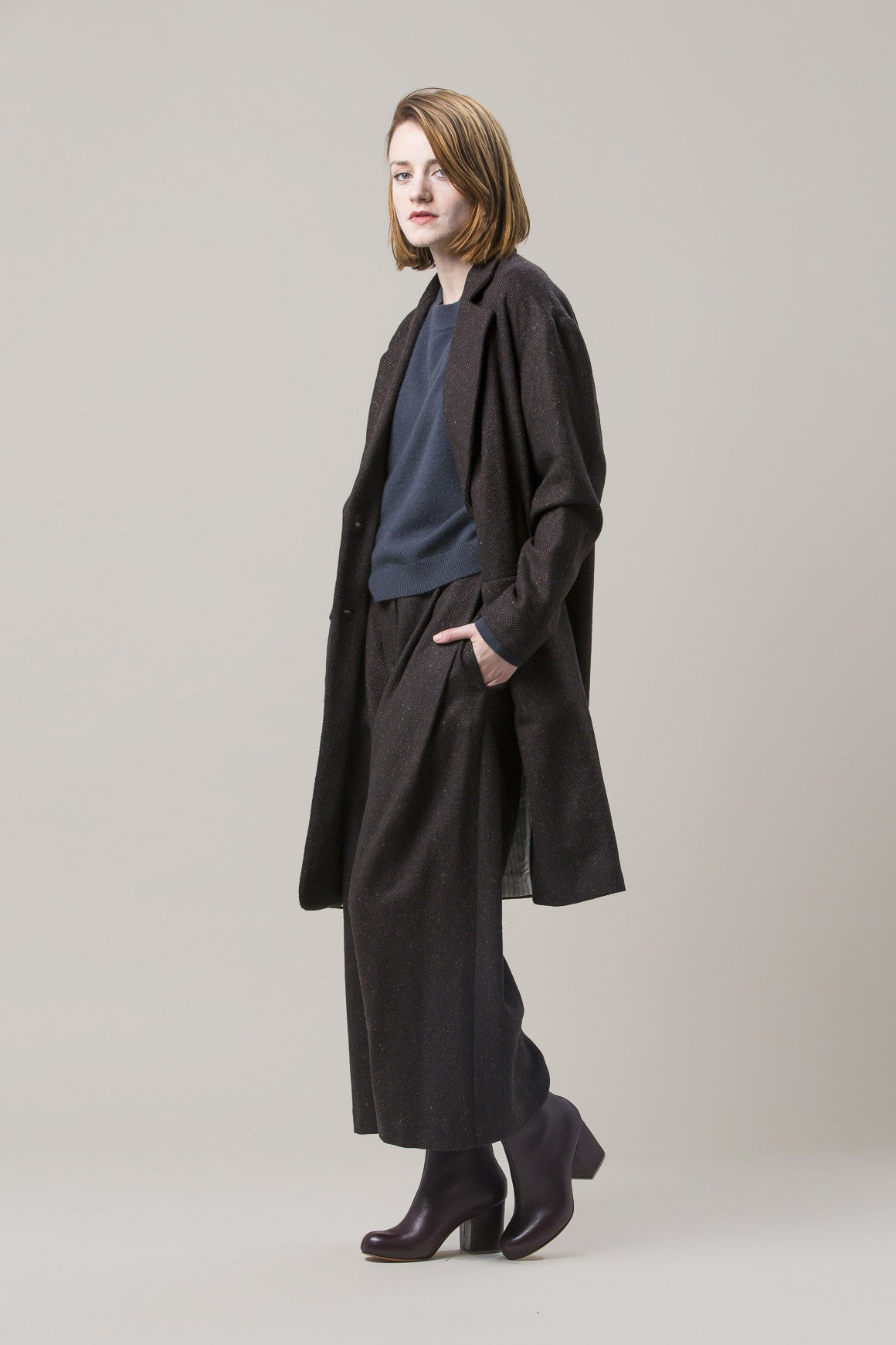 Long Oversized Coat, Brown by Dusan @ Kick Pleat - 1