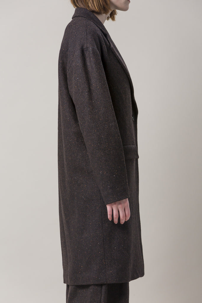 Long Oversized Coat, Brown by Dusan @ Kick Pleat - 6