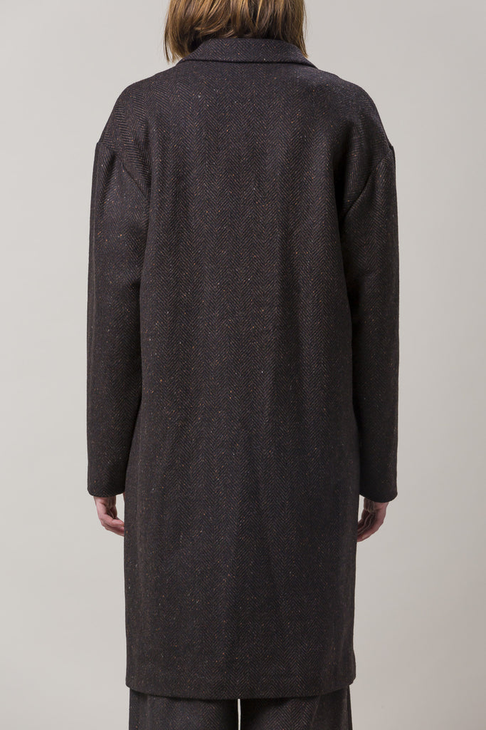 Long Oversized Coat, Brown by Dusan @ Kick Pleat - 5