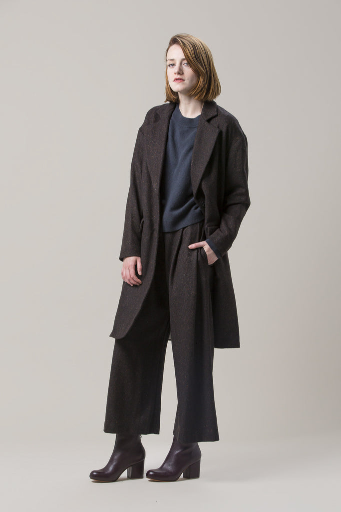 Long Oversized Coat, Brown by Dusan @ Kick Pleat - 8