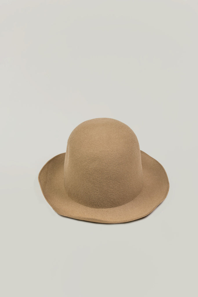 Wool Short Brim Hat, Beige