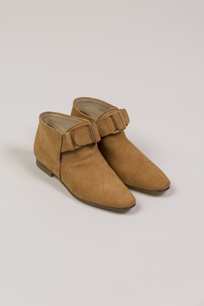 Flat Ankle Boot, Camel