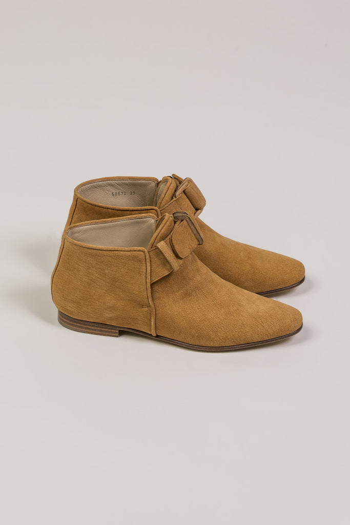 Flat Ankle Boot, Camel by Nehera @ Kick Pleat - 2
