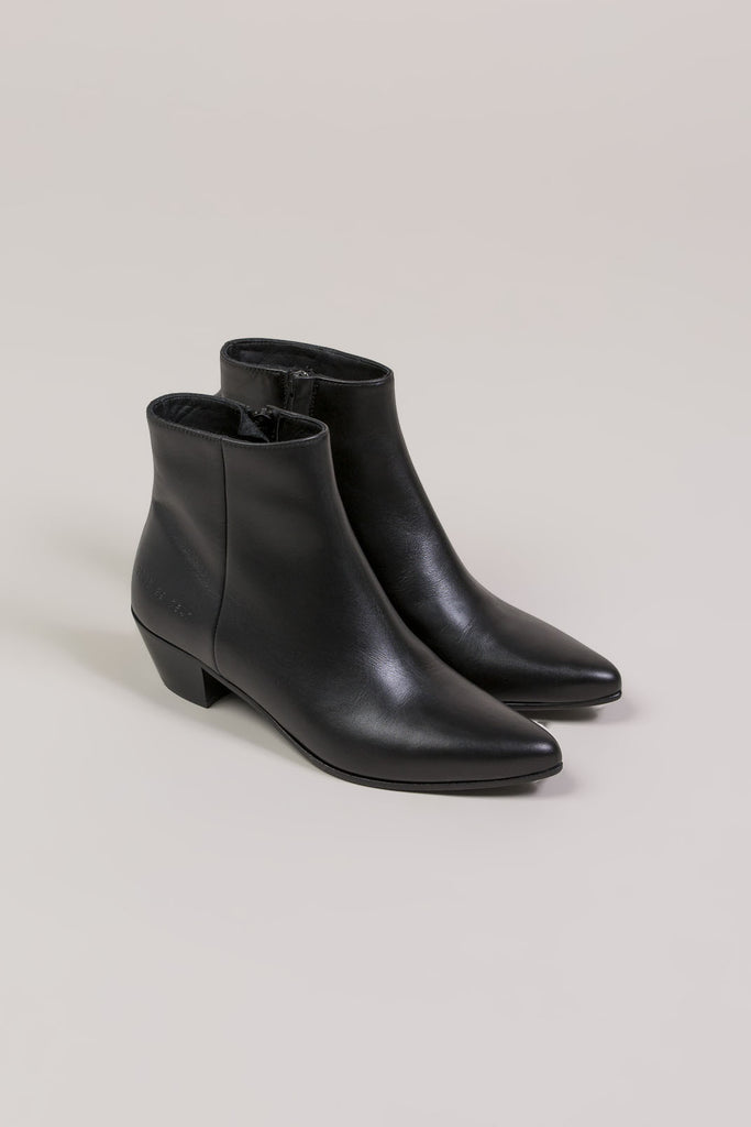 Zip Ankle Boot, Black by Woman by Common Projects @ Kick Pleat - 1