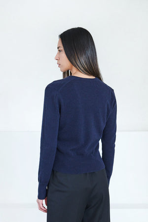 Allude - v-neck sweater, night