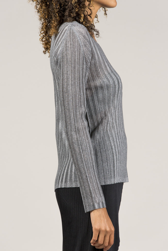 Long Sleeve Tee, Heather Grey by Pleats Please by Issey Miyake @ Kick Pleat - 6