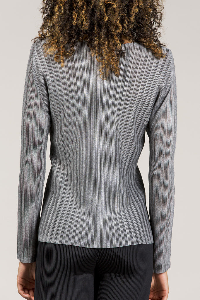 Long Sleeve Tee, Heather Grey by Pleats Please by Issey Miyake @ Kick Pleat - 7