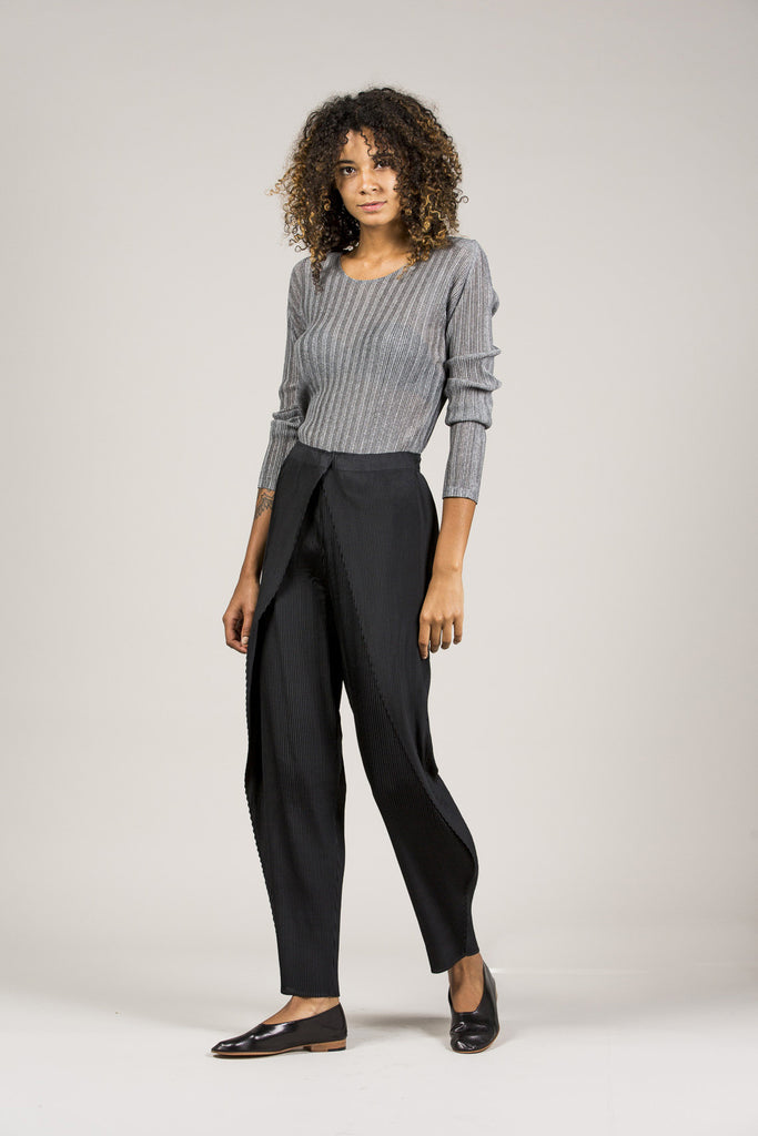 Long Sleeve Tee, Heather Grey by Pleats Please by Issey Miyake @ Kick Pleat - 8
