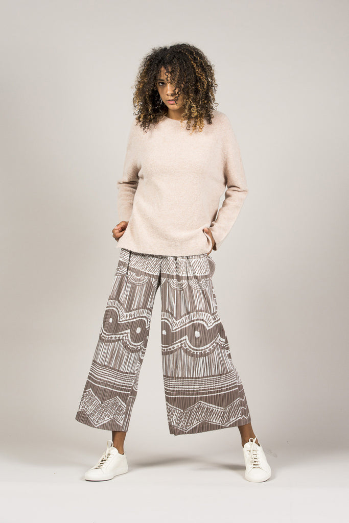 Printed Pleated Pants by Pleats Please by Issey Miyake @ Kick Pleat - 10