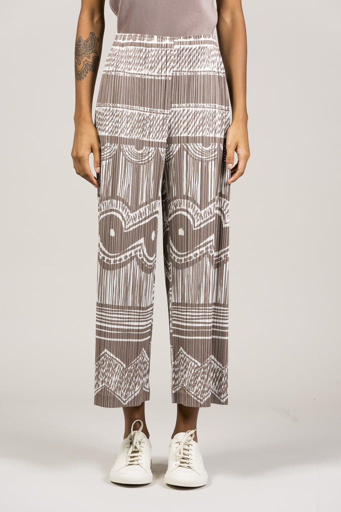 Printed Pleated Pants by Pleats Please by Issey Miyake @ Kick Pleat - 2