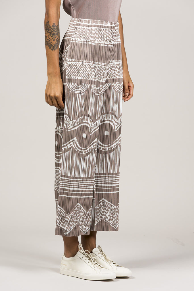 Printed Pleated Pants by Pleats Please by Issey Miyake @ Kick Pleat - 3