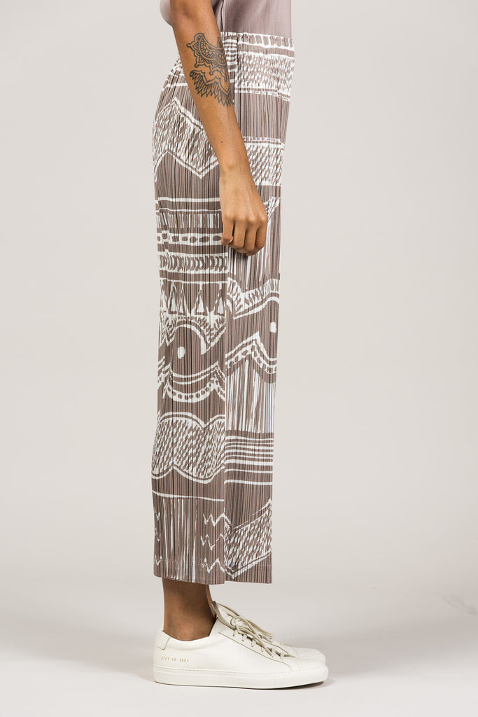 Printed Pleated Pants by Pleats Please by Issey Miyake @ Kick Pleat - 4