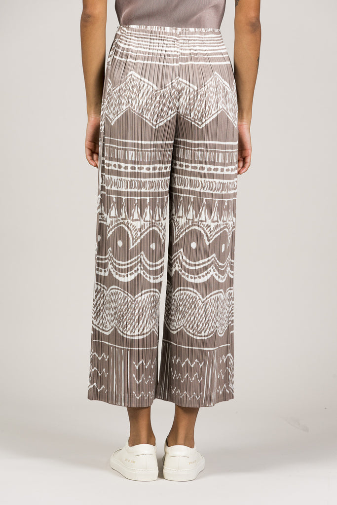 Printed Pleated Pants by Pleats Please by Issey Miyake @ Kick Pleat - 5