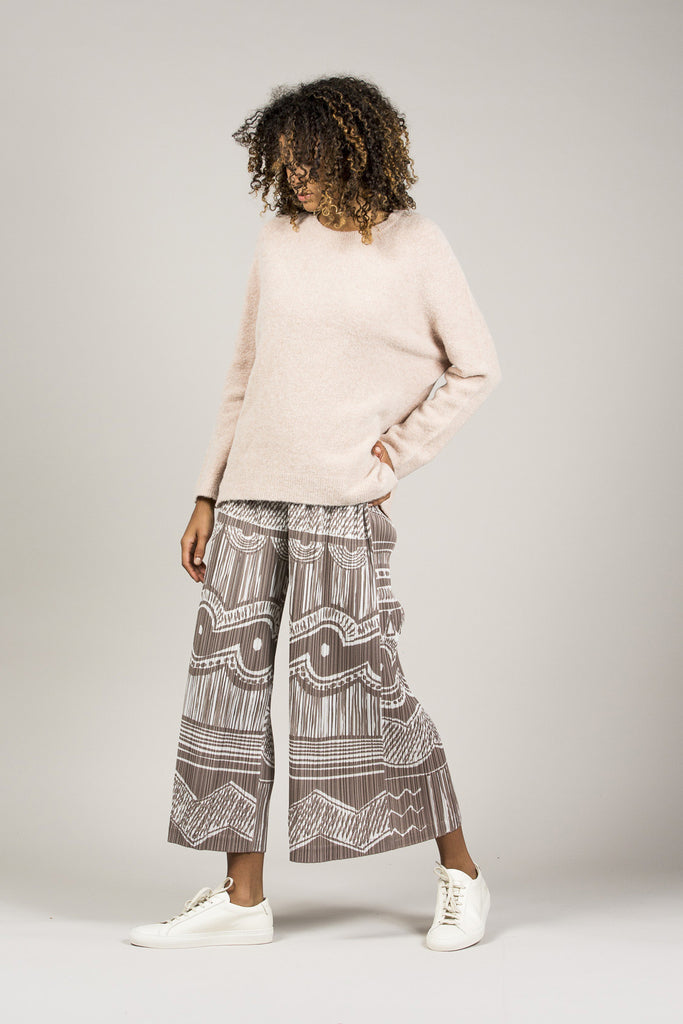 Printed Pleated Pants by Pleats Please by Issey Miyake @ Kick Pleat - 1