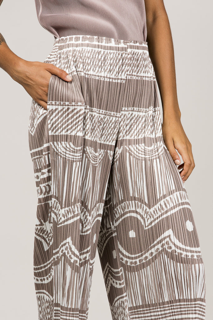 Printed Pleated Pants by Pleats Please by Issey Miyake @ Kick Pleat - 7