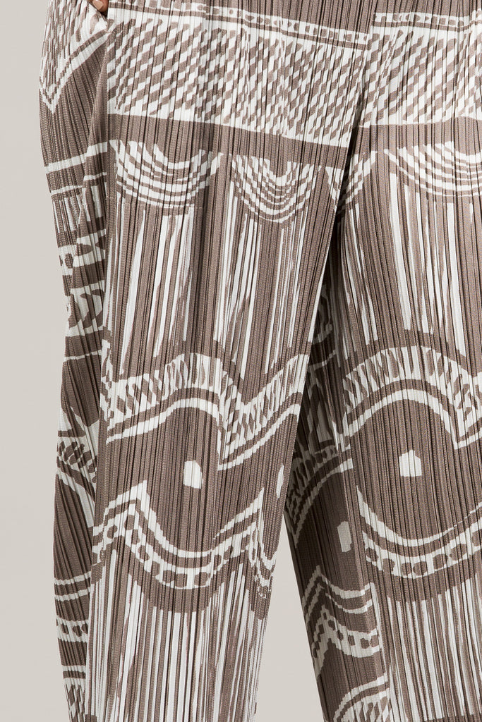 Printed Pleated Pants by Pleats Please by Issey Miyake @ Kick Pleat - 8