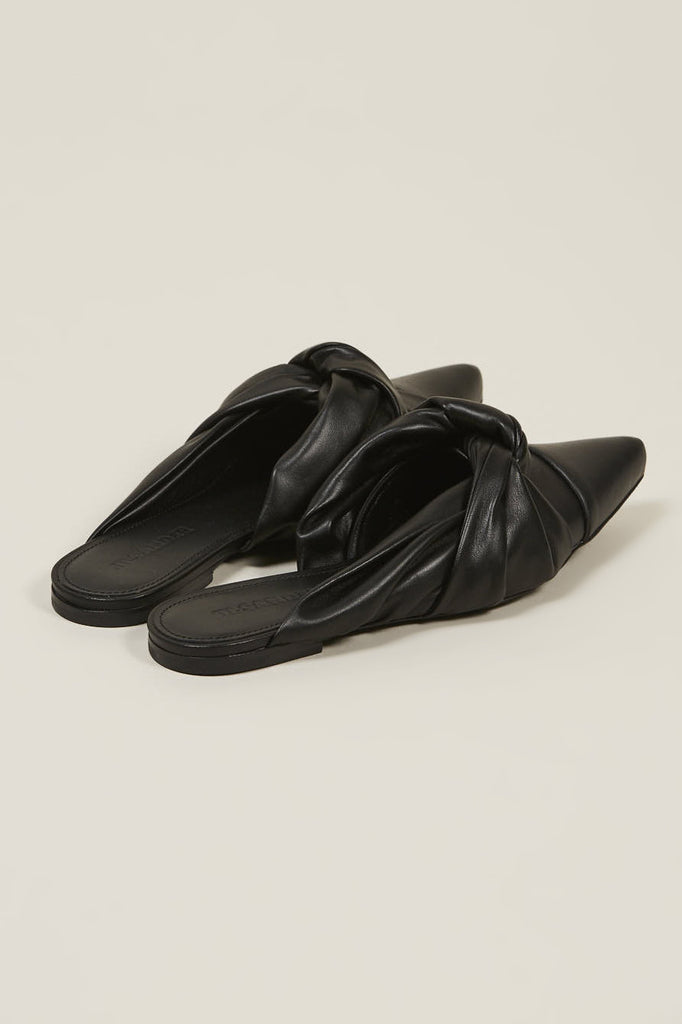 Nappa lamb closed toe shoes, Nero by JIL SANDER @ Kick Pleat - 4