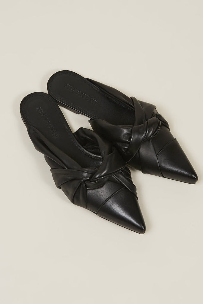 Nappa lamb closed toe shoes, Nero by JIL SANDER @ Kick Pleat - 3