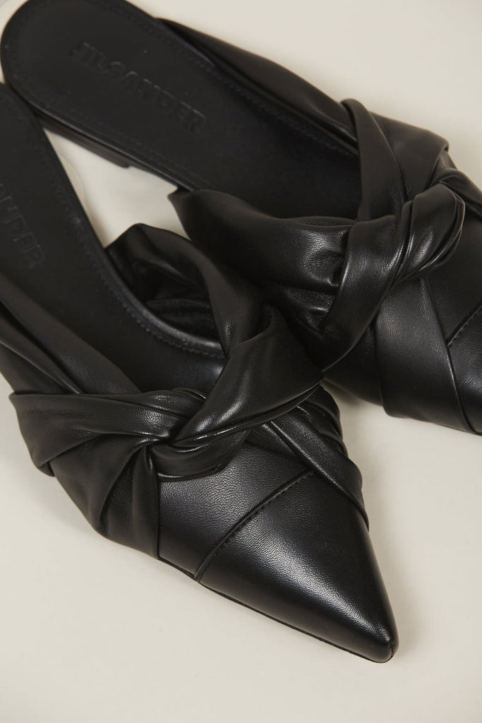 Nappa lamb closed toe shoes, Nero by JIL SANDER @ Kick Pleat - 6