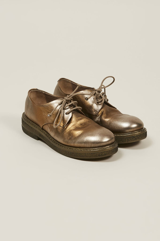Lace-up derby shoe, Copper