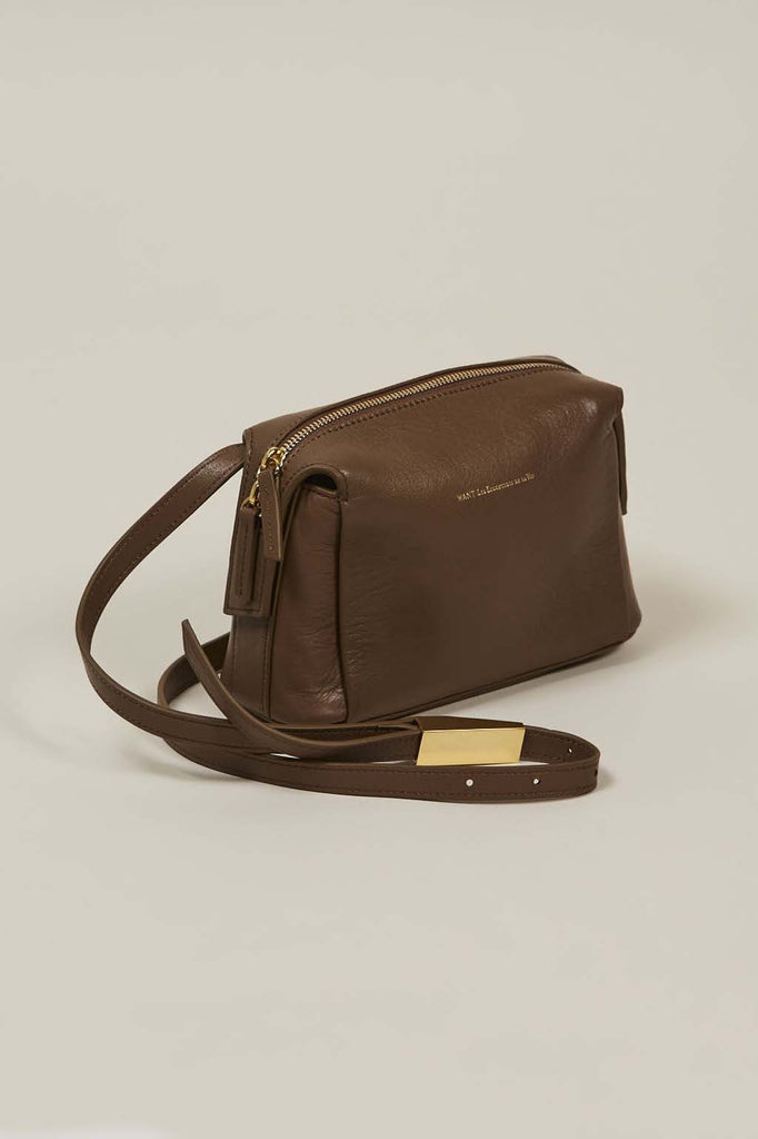 City Shoulder Bag, Mocha