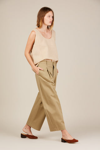Bonnard Oversized Trouser, Khaki
