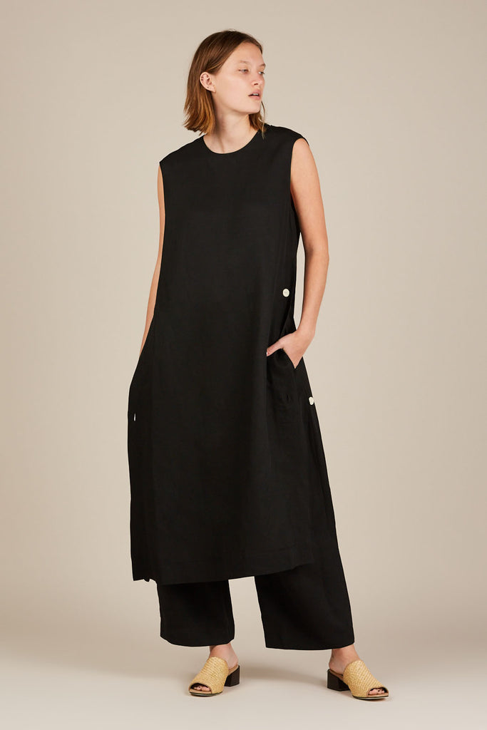 Rico Tunic Dress - Black - Studio Nicholson