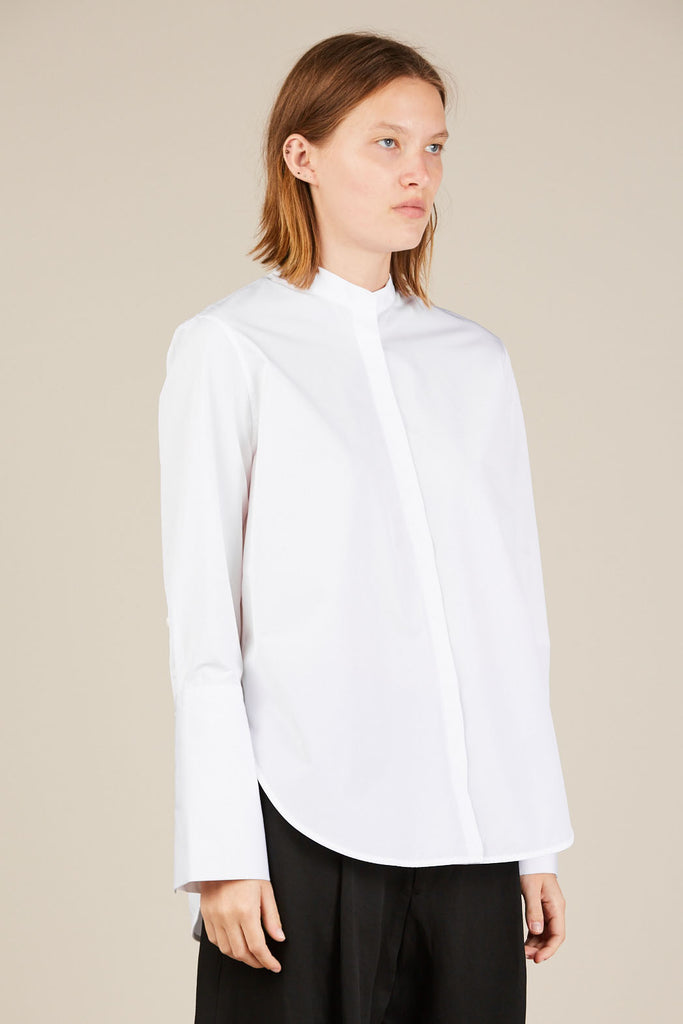 Alonso l/s shirt - White - Studio Nicholson