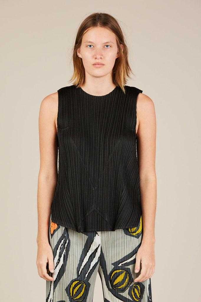 Pleated Tank top - Black - Pleats Please by Issey Miyake
