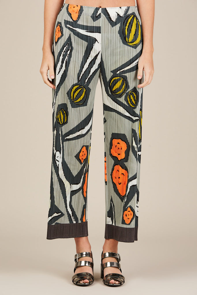 Pleated Trousers, Circus Print