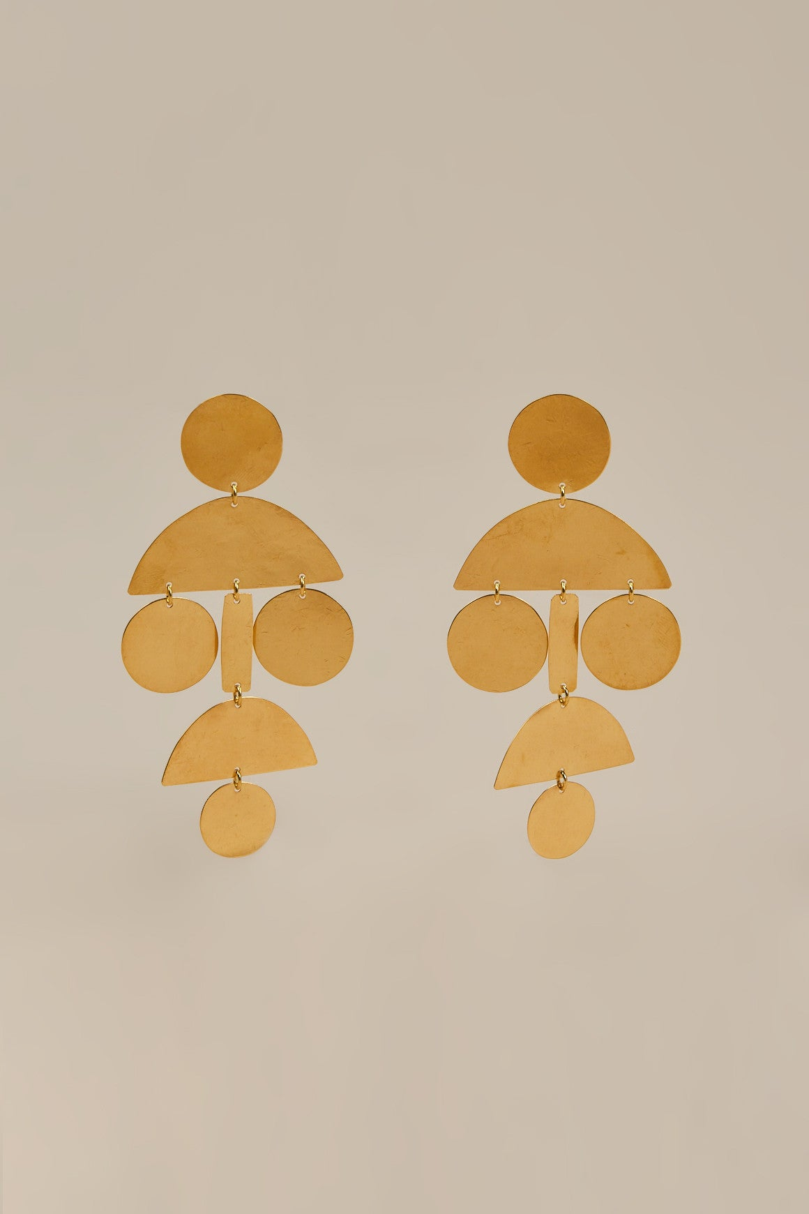 Pom Chandelier Earrings, Gold by ACB - Annie Costello Brown