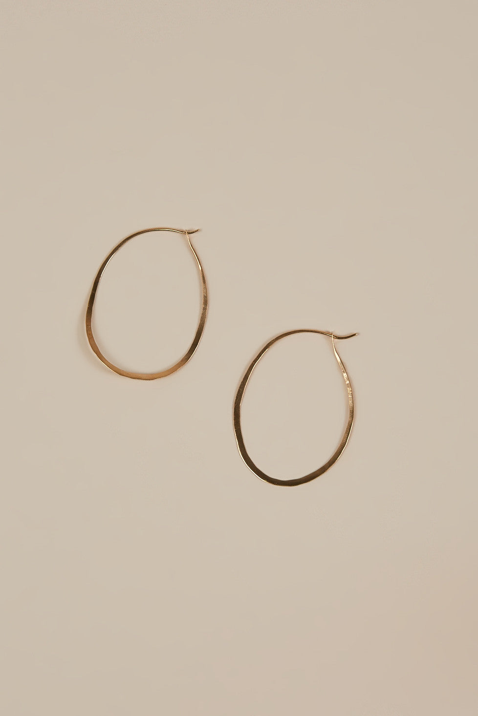 Oval Hoops, Gold by Blana Monros Gomez