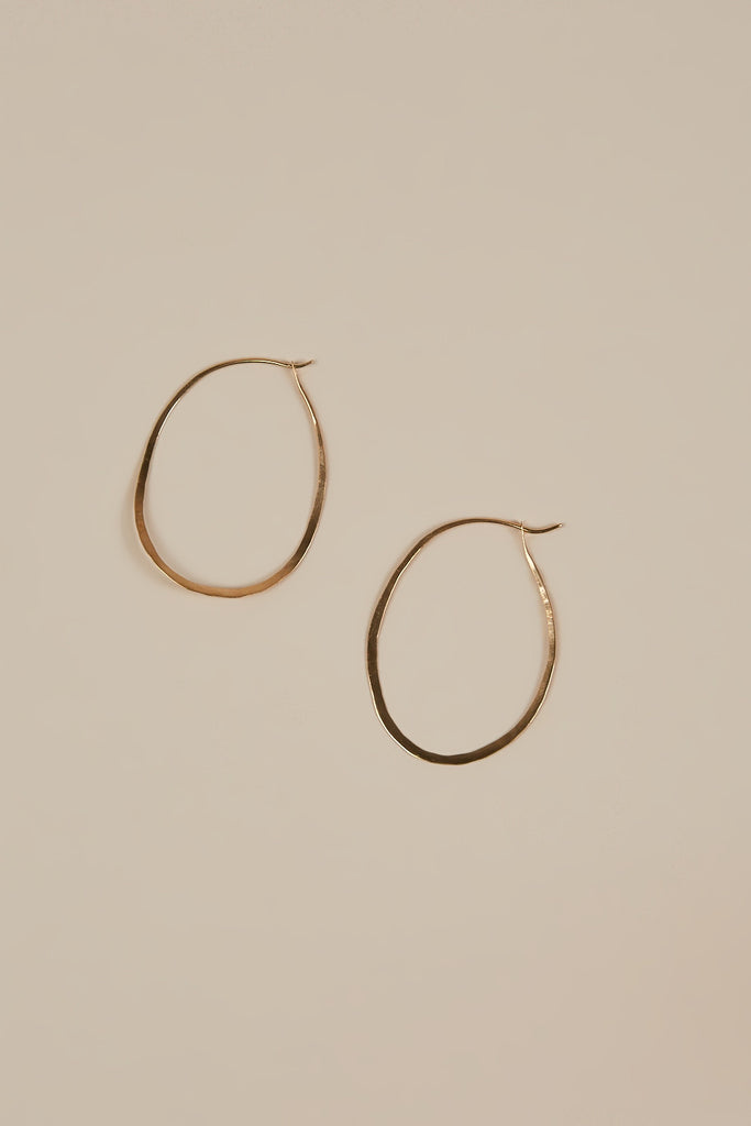 Oval Hoops, Gold