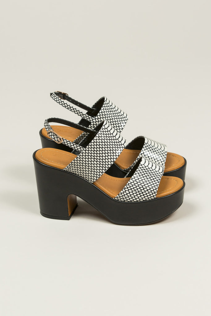 Emple Heeled Platform, Snake Print by Robert Clergerie @ Kick Pleat - 2