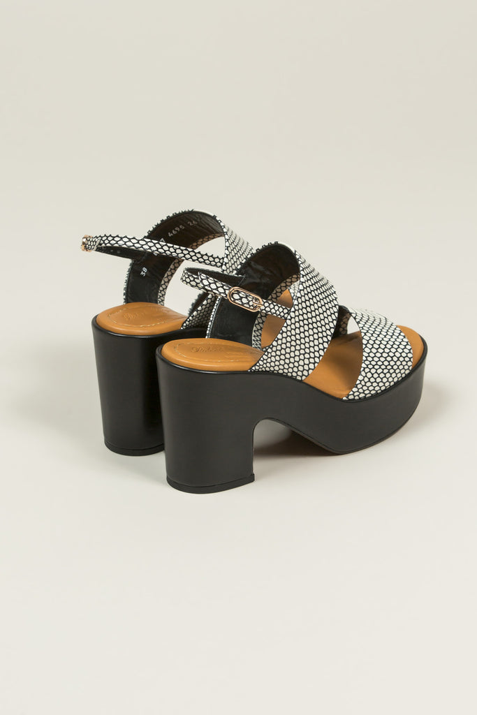 Emple Heeled Platform, Snake Print by Robert Clergerie @ Kick Pleat - 5