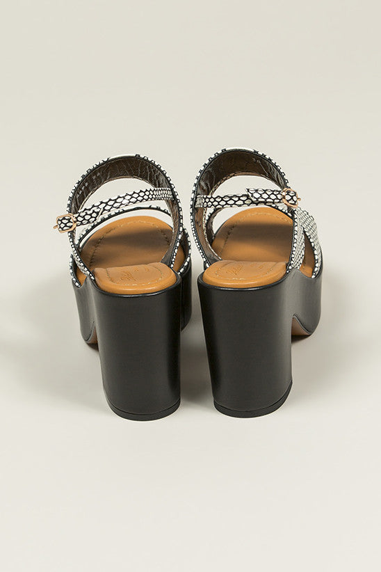 Emple Heeled Platform, Snake Print by Robert Clergerie @ Kick Pleat - 6