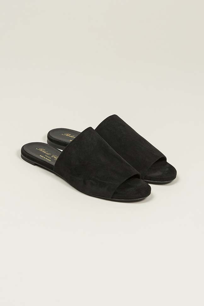Gigy Slide in Black by Robert Clergerie