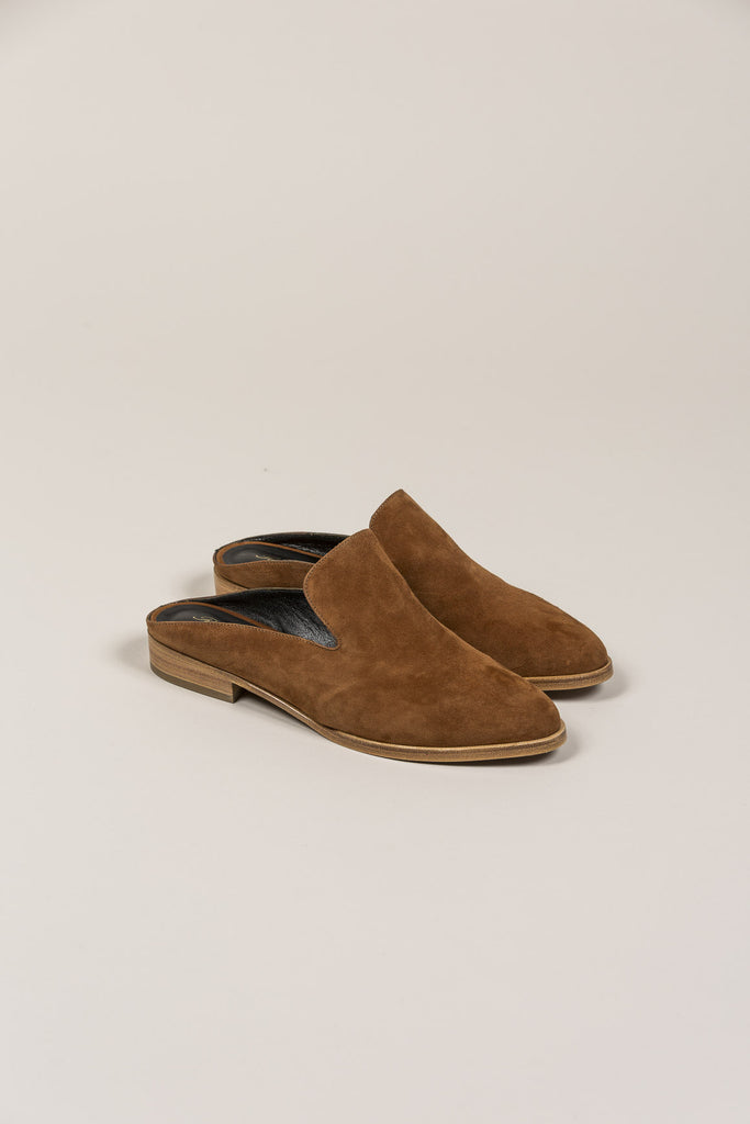 Alicel Mule, Amber Suede by Robert Clergerie @ Kick Pleat - 1