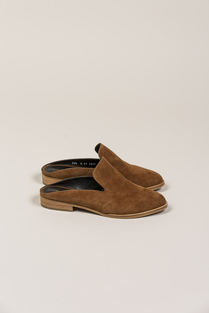 Alicel Mule, Amber Suede by Robert Clergerie @ Kick Pleat - 2