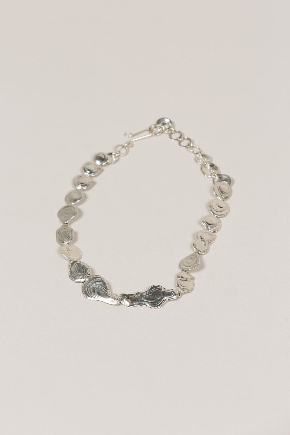 Lava Choker, Silver by Leigh Miller @ Kick Pleat - 1