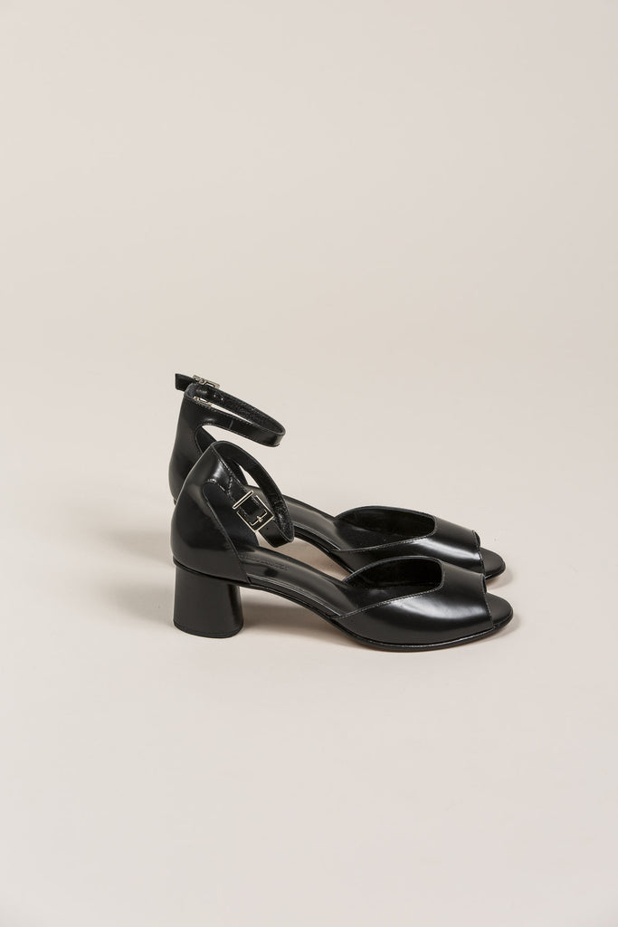 Bodie Ankle Strap Heel, Black by Rachel Comey @ Kick Pleat - 2