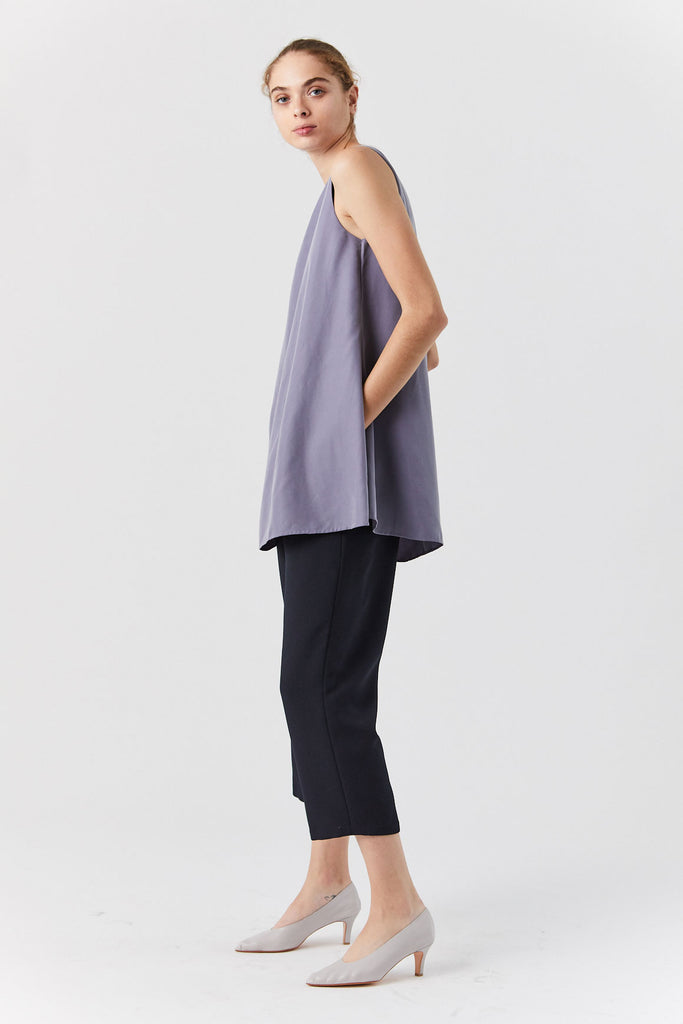 Alpinia Overlap Side Tunic Top, Lilac