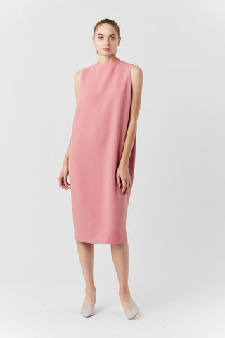 Dill High Collar Dress, Sun Pink