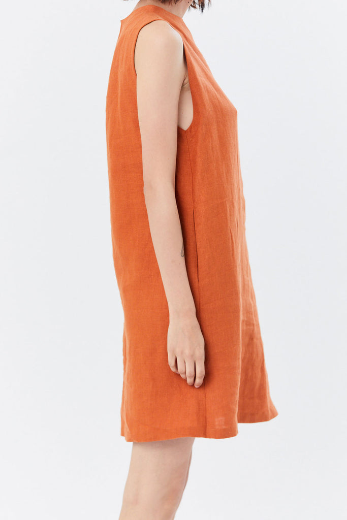 Kaarem - Dust Sleeveless Dress, Red Sand
