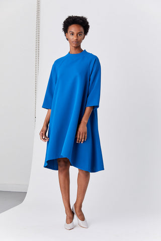 Sim Long Sleeve Raglan Dress, Blue