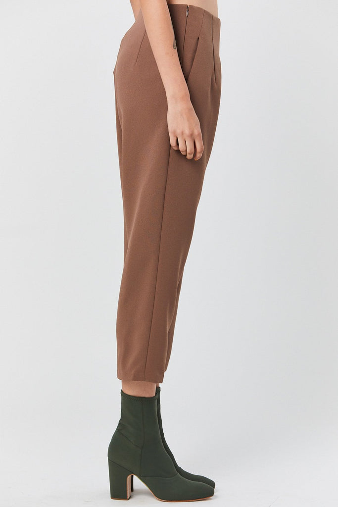 Kaarem - Sua Tapered Trouser Pocket Pant, Cacao