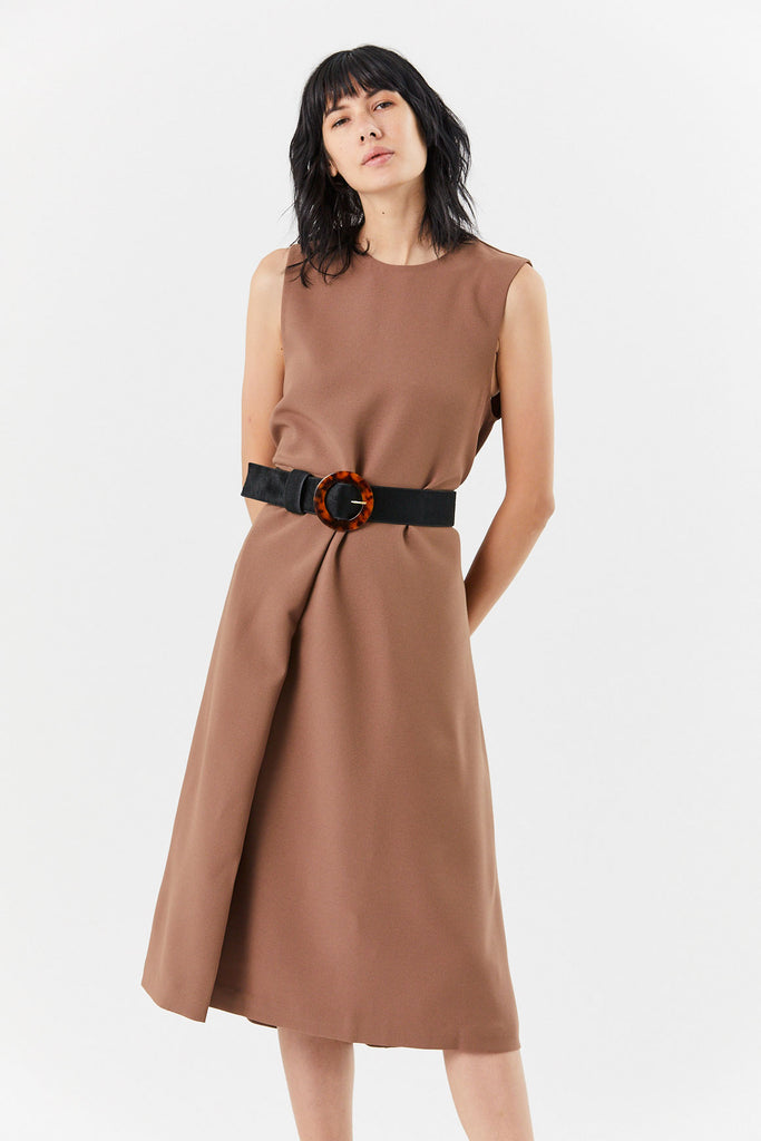 KAAREM - Verum Sleeveless Dress, Cacao