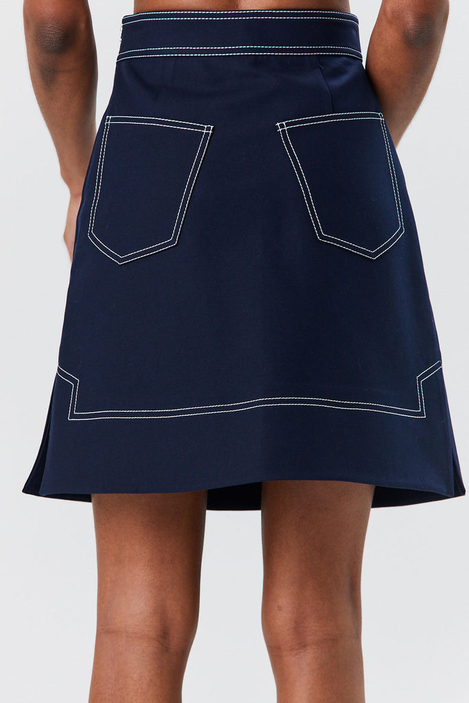 Khaite - Anja Skirt, Navy