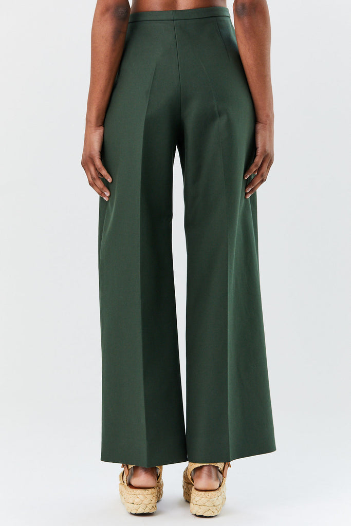 Khaite - Charlize Pants, Forest Green